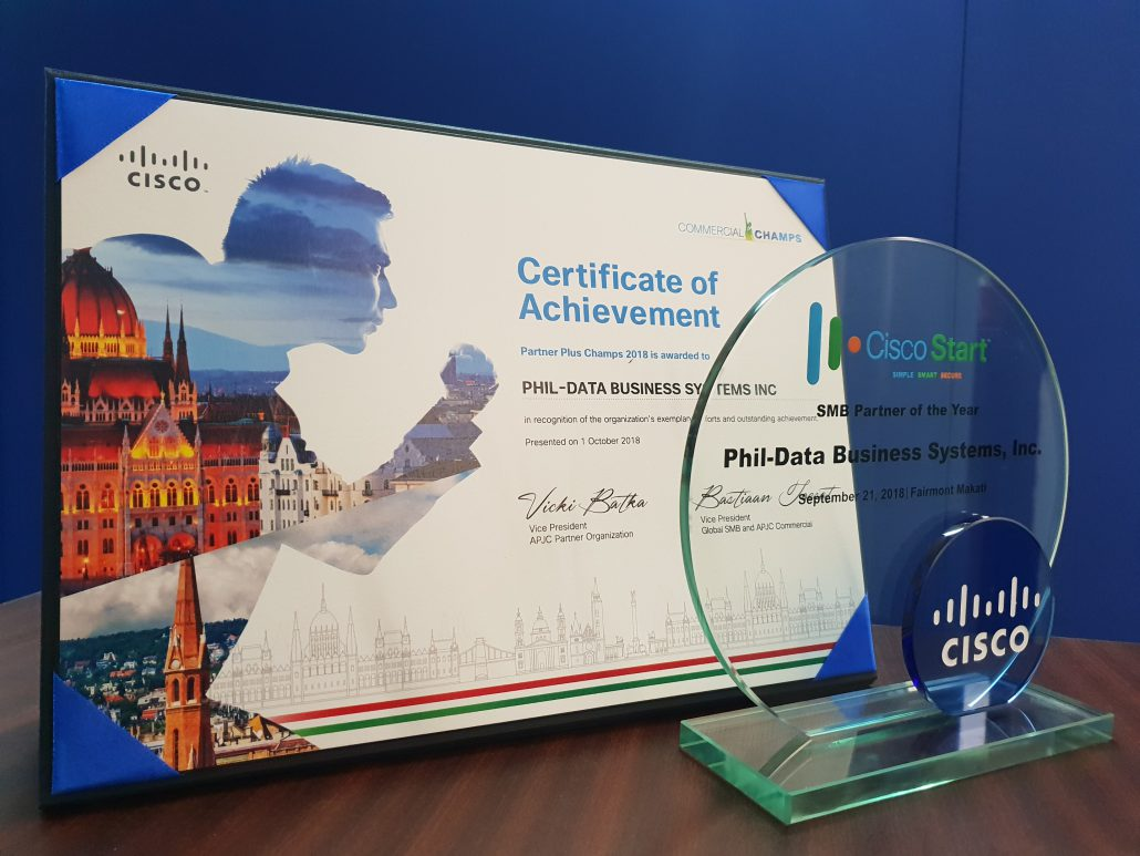 Cisco Partner Plus Champs 2018 Award