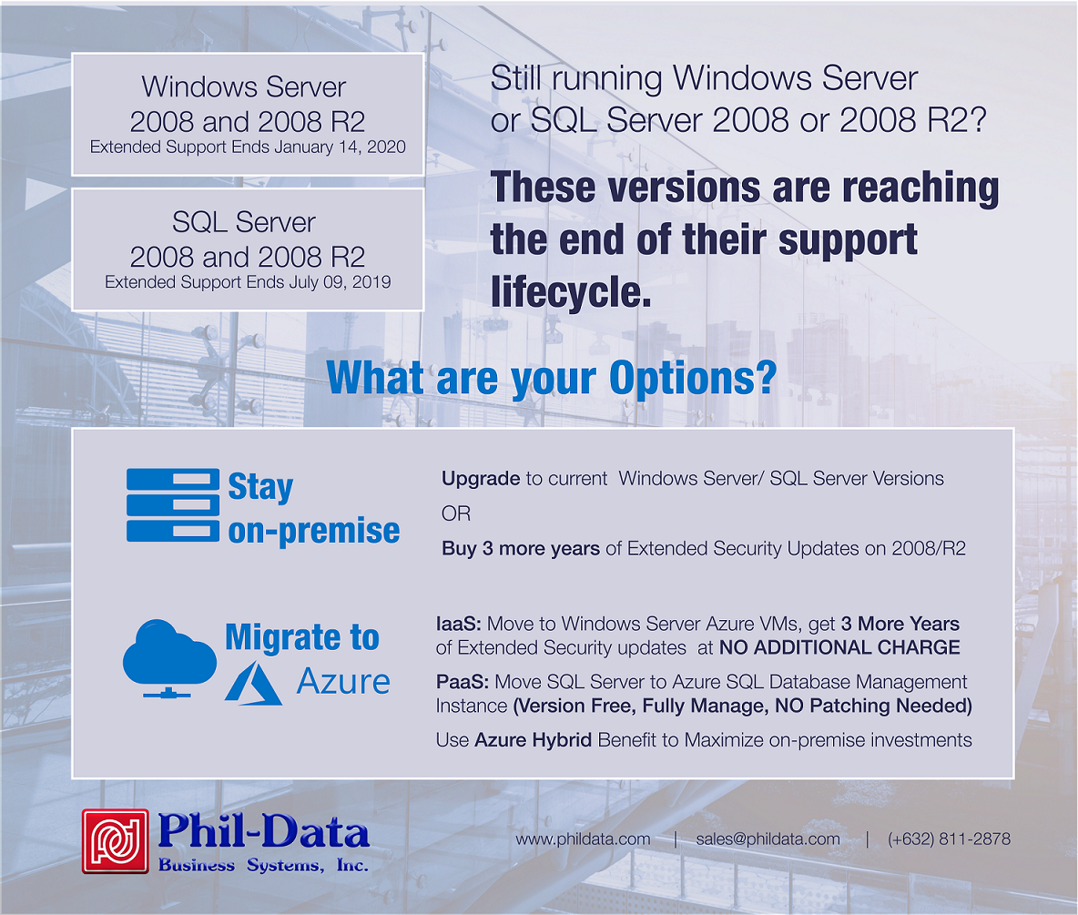 EOS Windows & SQL Server - Microsoft - Corporate IT Solution Provider of Cloud Security Digital Workplace Networking & DataCenter Solutions from Cisco Dell Technologies HP HPE Microsoft APC Avaya Aruba Epson Forcepoint Fortinet Symantec VMware | Phil-Data | Corporate IT Reseller Philippines | IT Solution Provider | Top IT Companies PHilippines